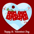 Stock Vector: Card by St. Valentine's Day.