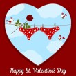 Stockvector : Card by St. Valentine's Day.