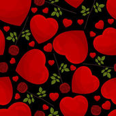Seamless pattern from hearts — Vecteur