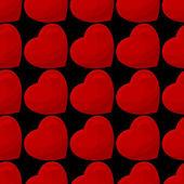 Naadloze patroon van harten — Stockvector