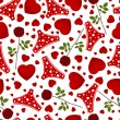 Stockvector : Seamless background by St. Valentine's Day.