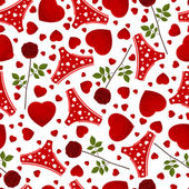 Seamless background by St. Valentine's Day. — Stockvektor