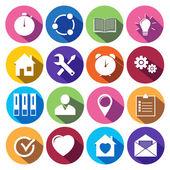 Web Icons Set in Flat Design — Vecteur