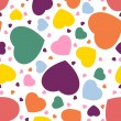 Stock Vector: Seamless hearts background