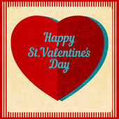 Vintage Valentines Day background. — Vector de stock