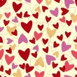 Seamless pattern from hearts to Valentines day. — Stock Vector #39040567