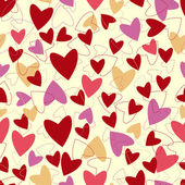 Seamless pattern from hearts to Valentines day. — Stock Vector