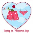 Card by St. Valentine's Day. — Stock vektor