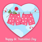 Tarjeta de día de San Valentín. — Vector de stock