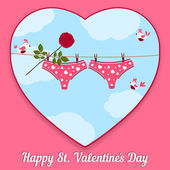 Card by St. Valentine's Day. — Stock Vector