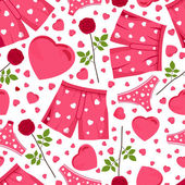 Seamless background by St. Valentine's Day. — 图库矢量图片