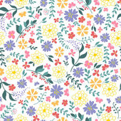 Seamless pattern from spring flowers. — Stock Vector