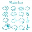 Hand drawn weather icon set. — Stock Vector #41264057