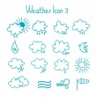 Hand drawn weather icon set. — Stock Vector #41264173