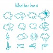 Hand drawn weather icon set. — Stock Vector #41264193
