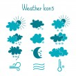 Hand drawn weather icon set. — Stock Vector #41264197