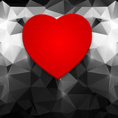 Red heart on an abstract background. — Vector de stock