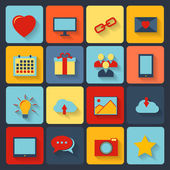 Flat set of modern vector icons . — Stock Vector
