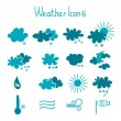Stock Vector: Hand drawn weather icon set.