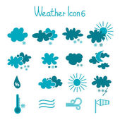 Hand drawn weather icon set. — Stock Vector