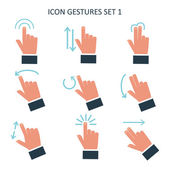 Gesture icons for touch devices. — Stock Vector