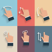 Gesture icons for touch devices. — Vettoriale Stock