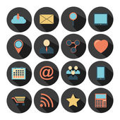 Flat design - vector icons set. — Stock Vector