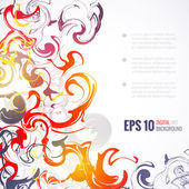 EPS 10 vector ink abstract background — Stock Vector