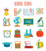 Set of icons education.flat style — Stock Vector