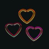 Colorful Plastic Hearts — Stock Photo
