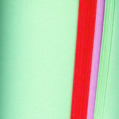 Kanten der farbige Papierrollen — Stockfoto