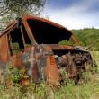 Old rusty antique truck - Stock Photo