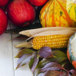 Autumn vegetables and fruits — Stock Photo