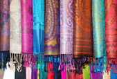 Silk scarves — Stock Photo