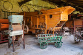 Ancient farm tools, machinery and equipment — Stock Photo