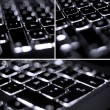 Illuminated keyboard — Stock Photo