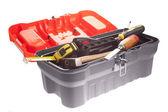Orange toolbox — Stock Photo