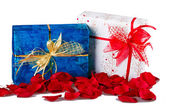 Two gift boxes isolated — Stok fotoğraf