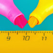 Two markers and a ruler — Stock Photo #22845192