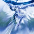 Stock Photo: Flowing water macro