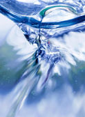 Flowing water macro — Stock Photo
