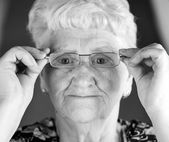 Old lady in eyewear — Stock Photo