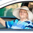 Senior womin car — Stock Photo #34554945