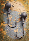 Two fishhooks — Stockfoto