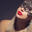 Gorgeous woman in carnival mask — Stockfoto