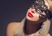 Gorgeous woman in carnival mask — Foto Stock