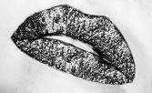 Vivid glossy lips — Stock Photo