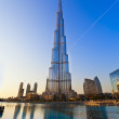 DUBAI, UAE - JAN 29: Burj Khalifa, world's tallest tower, Downtown Burj Dubai January 29, 2012 in Dubai, United Arab Emirates — Stock Photo