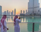 Dubai arabs — Stock Photo