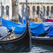 Gondolas in Grand canal ,venice,italy — Stock Photo
